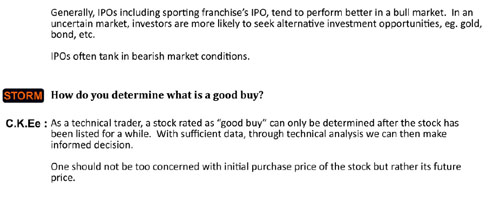 how to determine a good buy
