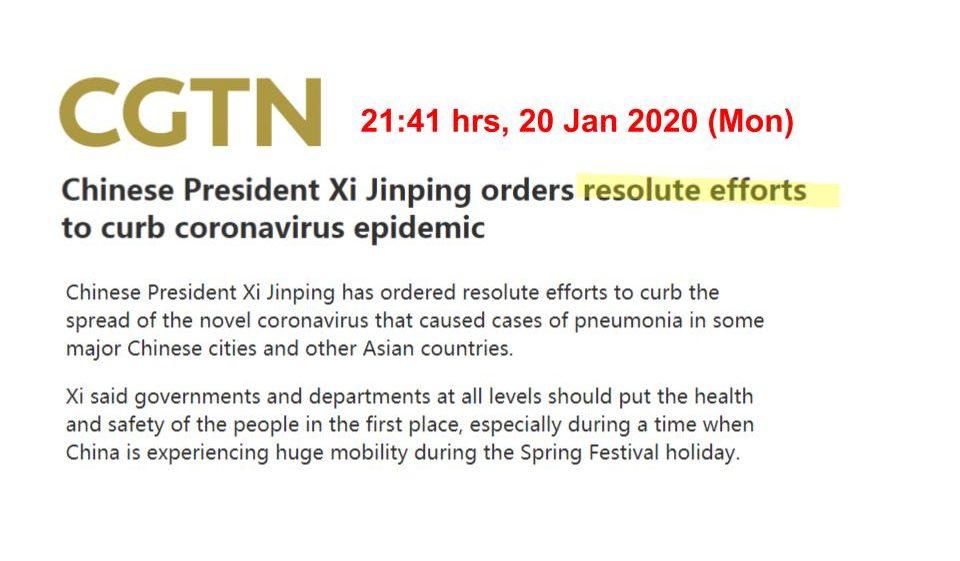 president xi jinping statement